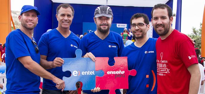 Entel se convierte en el principal socio estratégico de EnseñaPerú