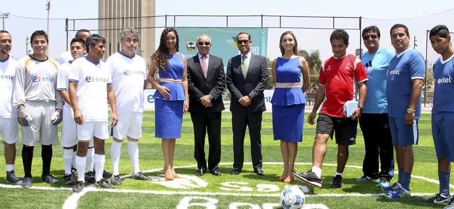 Municipalidad de San Borja y Entel inauguran cancha de grass sintético en Polideportivo Limatambo