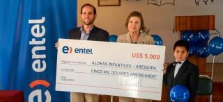 Entel apoya a Aldeas Infantiles SOS en Arequipa