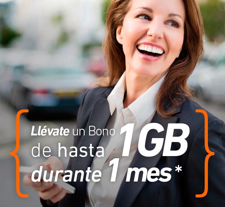 LLévate un bono de hasta 1 GB por 1* mes con el débito automático