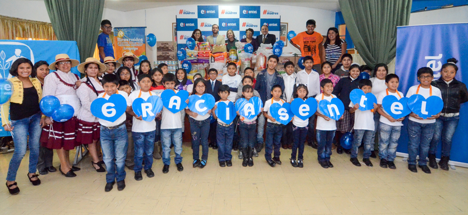 Entel entregó más de tonelada y media de alimentos a Aldeas Infantiles S.O.S en Arequipa