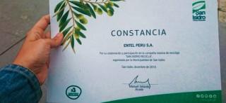 Entel se suma a campaña masiva de reciclaje solidario impulsada por la Municipalidad de San Isidro