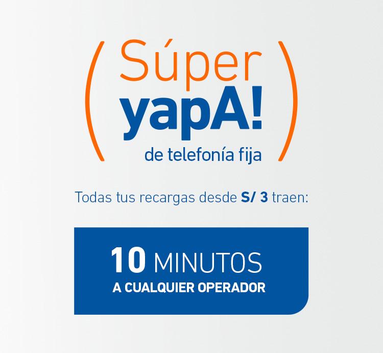¡La Súper Yapa llegó a la Telefonía Fija!