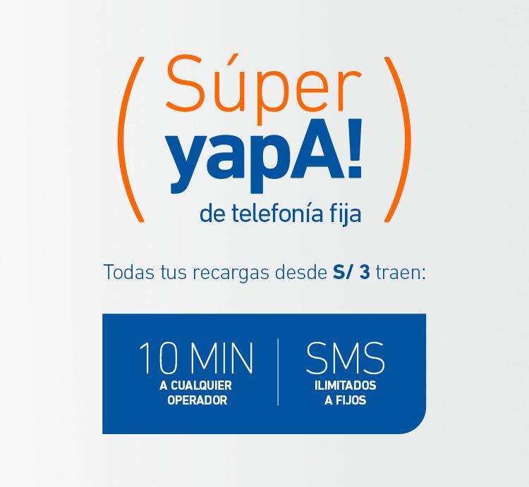 ¡La súperyapa llegó a la Telefonía Fija!