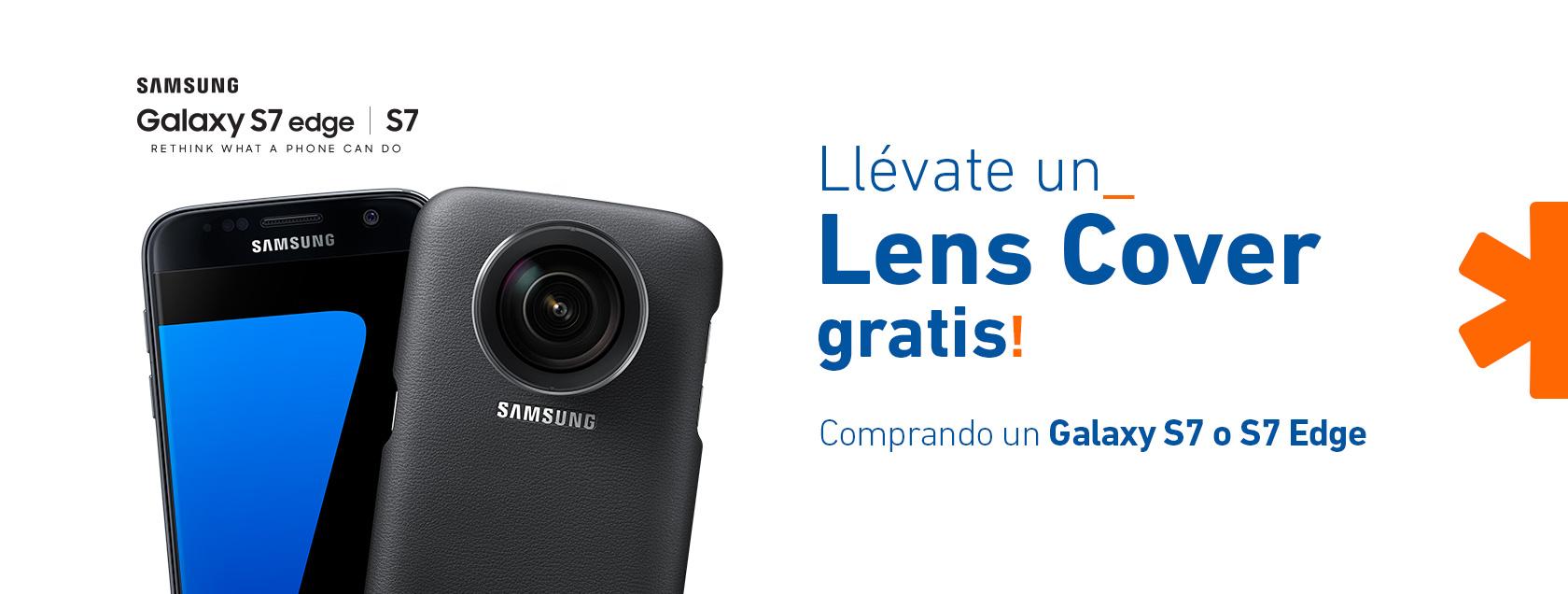 Por la compra de un Galaxy S7 o S7 Edge, llévate gratis un Lens Cover