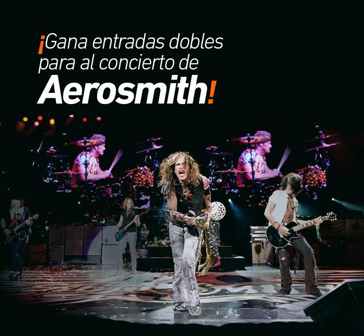 ¡No te pierdas el concierto de Aerosmith!