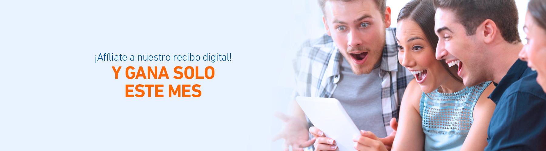 Afiliate al recibo digital