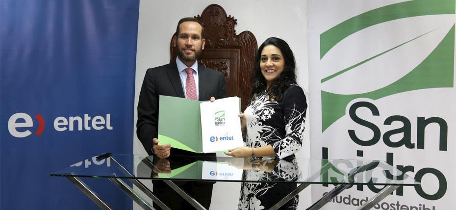 Entel y la Municipalidad de San Isidro firman Pacto por la Movilidad Urbana Sostenible
