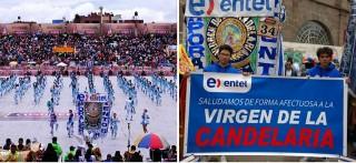 Entel se une a la celebración de La Virgen de la Candelaria