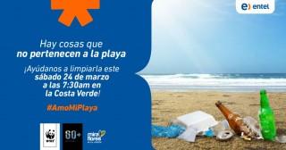 """Limpiando playas y promoviendo el reciclaje electrónico Entel se sumó a """"La Hora del Planeta"""""""