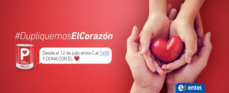 "Únete a ""Ponle Corazón"" enviando un mensaje de texto desde Entel"