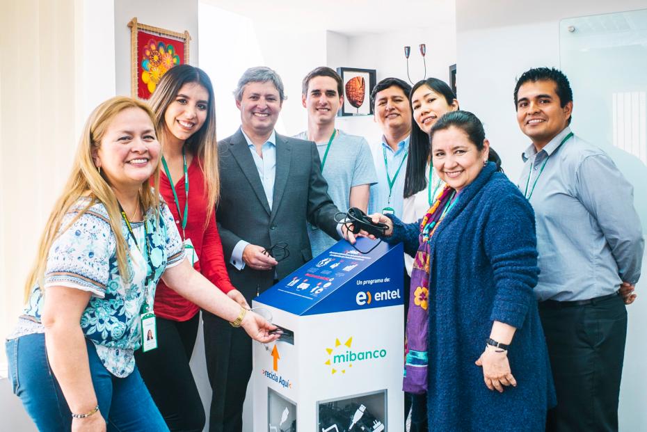 Entel y Mibanco se unen por el reciclaje electrónico