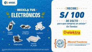 Entel y Elektra reconocen a sus clientes con 100 soles de descuento por reciclar