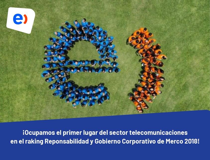 ¿Cuál es la operadora con mejor posición en el ranking Merco de Responsabilidad y Gobierno Corporativo?