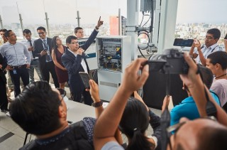 Entel es la primera operadora del país en realizar pruebas en vivo ante la prensa para la  tecnología 5G
