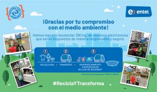 Entel y Publimetro logran recaudar casi 400 kilos de residuos electrónicos en dos horas
