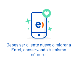 Debes ser ser cliente nuevo o migrar a Entel, conservando tu mismo número