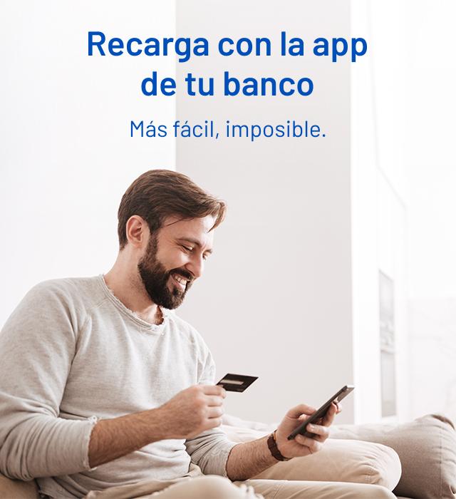 Recarga app  Entel con tu Banco