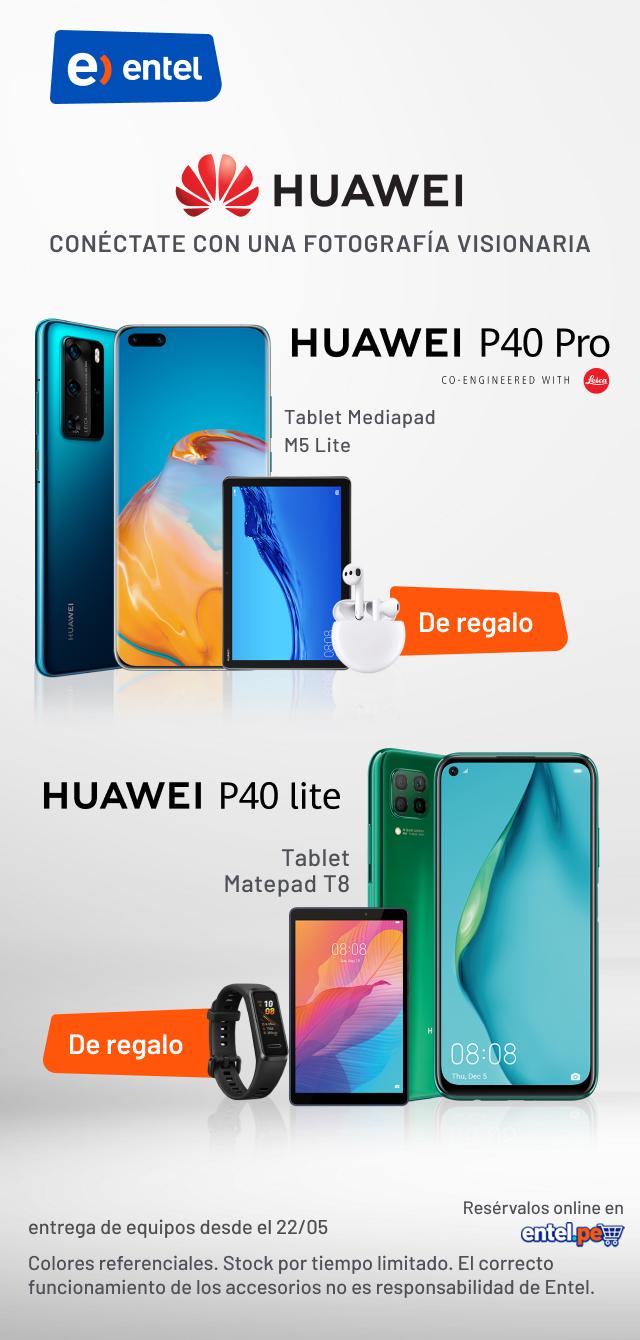 Lanzamiento de Huawei P40 - Entel Perú