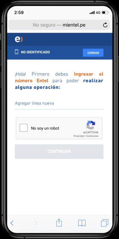 Página de www.mientel.pe