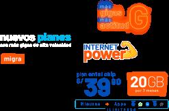 Internet power - nuevos planes con más gigas de alta velocidad
