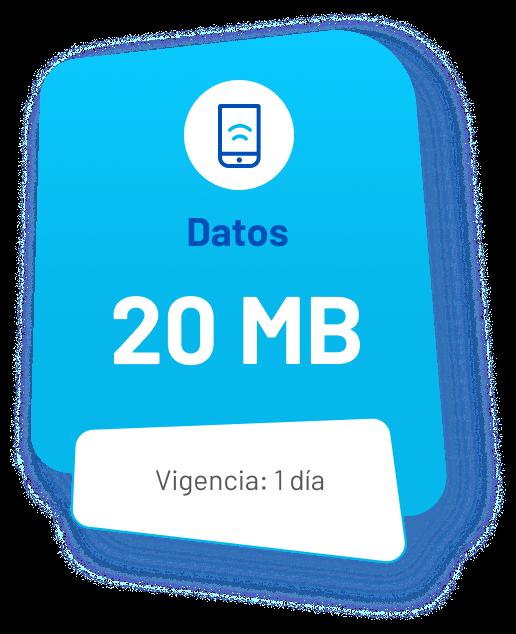 Datos: 20MB (vigencia: 1 día)