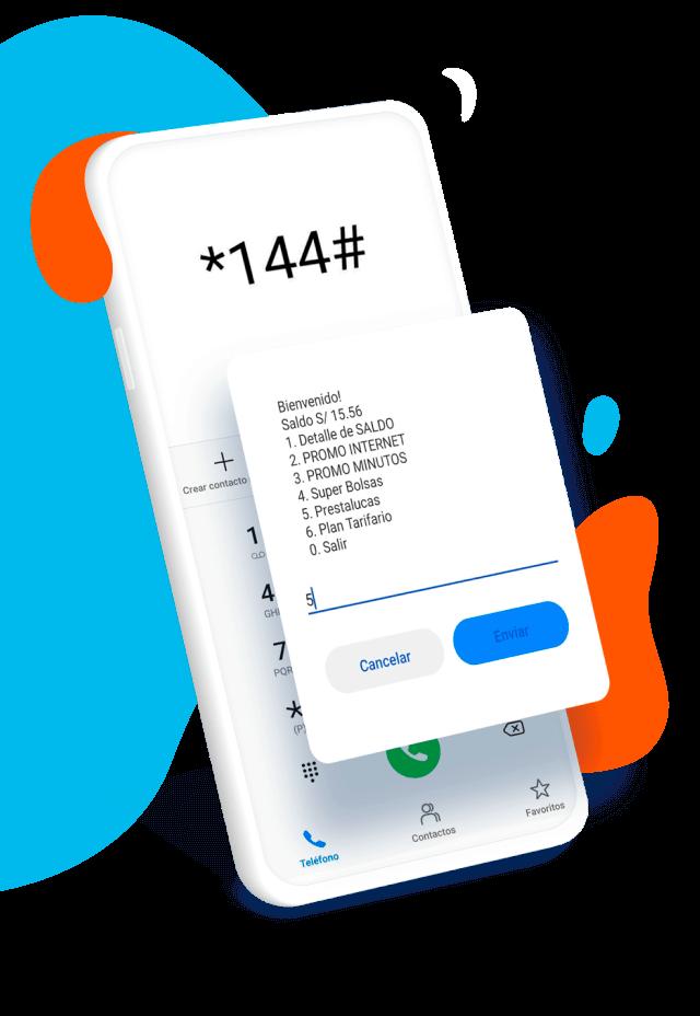 smartphone activando prestaluca através de una llamada al *144#