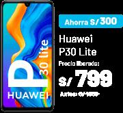 Ahorra S/ 300 Huawei P30 Lite