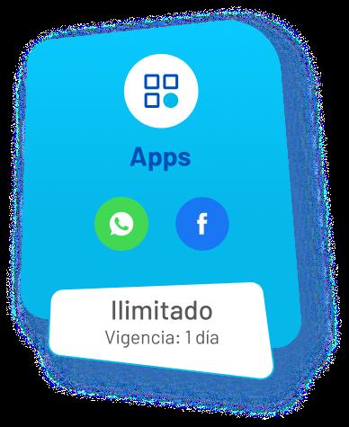 Apps: whatsapp, instagram, facebook (vigencia: 1 día)